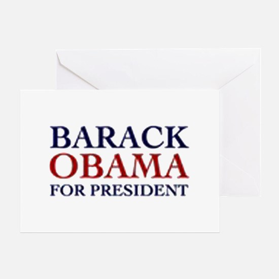 Barack Obama for President Greeting Card