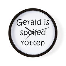 Funny Gerald name Wall Clock