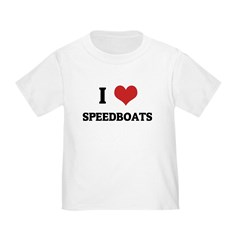 I Love Speedboats T