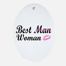 Best Woman Oval Ornament