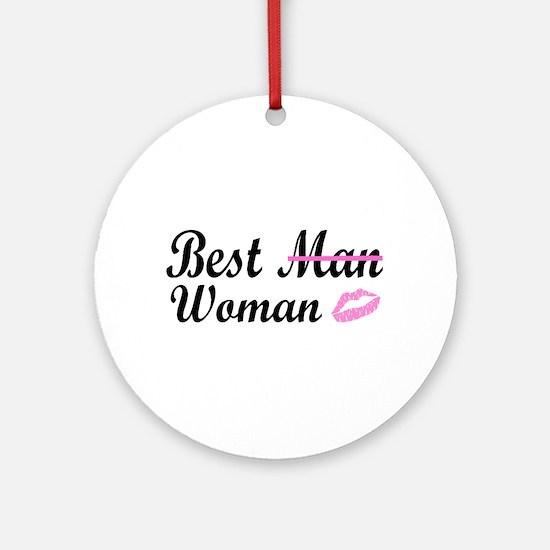 Best Woman Ornament (Round)
