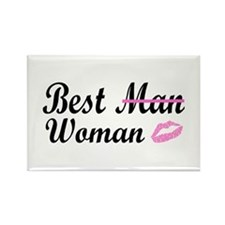 Best Woman Rectangle Magnet