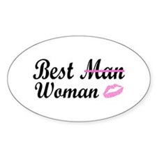 Best Woman Oval Decal