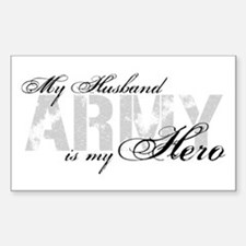 Husband is my Hero ARMY Rectangle Decal