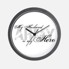 Husband is my Hero ARMY Wall Clock