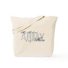 Husband is my Hero ARMY Tote Bag