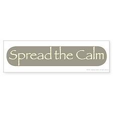 Spread The Calm Bumper Bumper Sticker