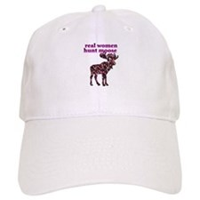 Real Women Hunt Moose Baseball Cap