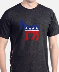 Democrat Donkey Black T-Shirt