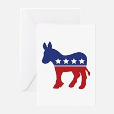 Democrat Donkey Greeting Cards (Pk of 10)