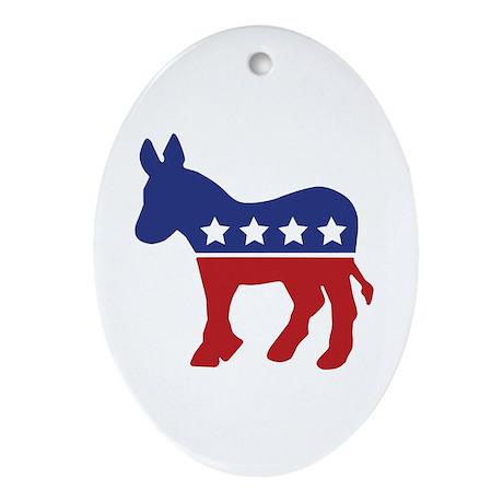Democrat Donkey Oval Ornament
