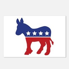 Democrat Donkey Postcards (Package of 8)