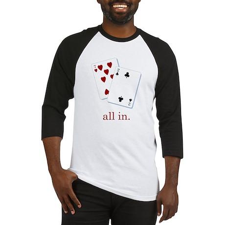 """all in"" poker Baseball Jersey"
