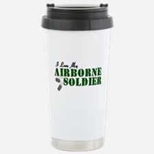 I Love My Airborne Soldier Stainless Steel Travel