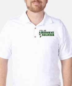 I Love My Airborne Soldier Golf Shirt