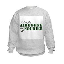 I Love My Airborne Soldier Sweatshirt