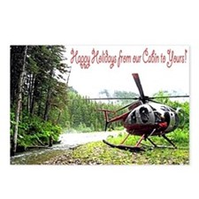 Holiday Helicopter Cabin Postcards (Package of 8)