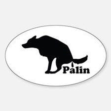 Poop on Palin Oval Decal