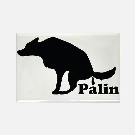Poop on Palin Rectangle Magnet