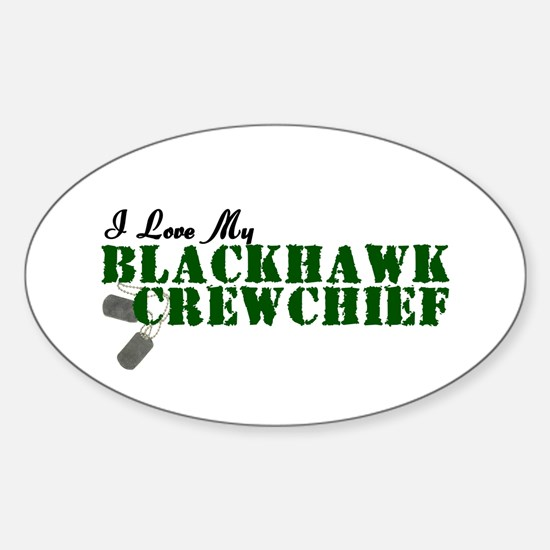 Love My Blackhawk Oval Decal