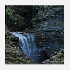 Waterfall At Watkins Glen Tile Coaster