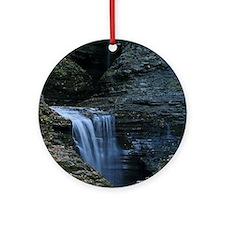 Waterfall At Watkins Glen Ornament (Round)