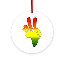 Peace in Africa REGGAE Ornament (Round)