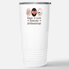 Peace Love Forensic Anthropology Travel Mug