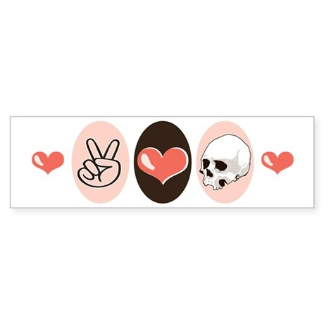 Peace Love Forensic Anthropology Bumper Sticker