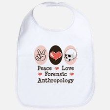 Peace Love Forensic Anthropology Bib