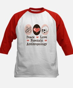 Peace Love Forensic Anthropology Kids Baseball Jer
