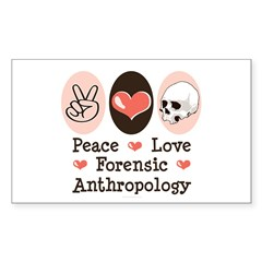 Peace Love Forensic Anthropology Decal
