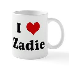 I Love Zadie Small Mug