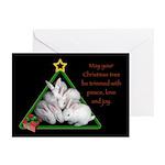 Baby Bunnies Christmas Tree Cards (Pk Of 10)