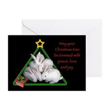 Baby Bunnies Christmas Tree Cards (Pk Of 10)