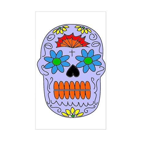 Sugar Skull Rectangle Sticker