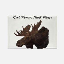 Real Women Hunt Moose Rectangle Magnet