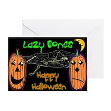 Cute Lazy bones Greeting Card