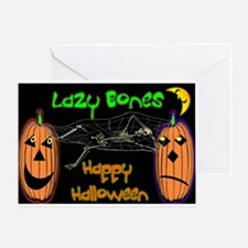 Cute Lazy bones Greeting Card