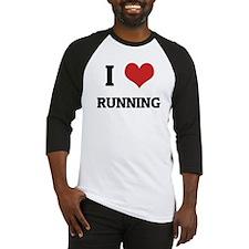 I Love Running Baseball Jersey