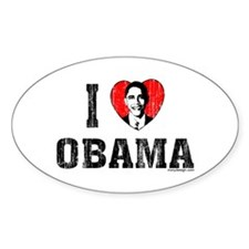 I Love Obama Decal