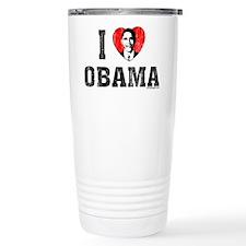 I Love Obama Travel Coffee Mug