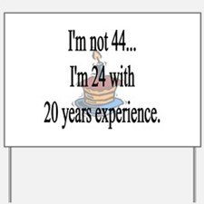 Funny Forty Yard Sign