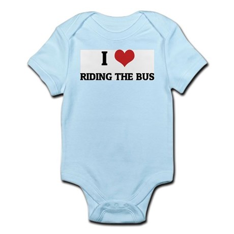I Love Riding the Bus Infant Creeper