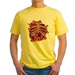 Halloween Zombie Gore Yellow T-Shirt