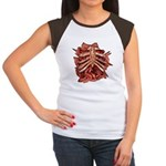 Halloween Zombie Gore Women's Cap Sleeve T-Shirt