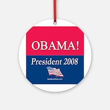 """""""Barack Obama for President"""" Ornament (Round)"""