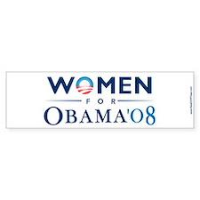 """""""Women for Obama"""" Bumper Bumper Sticker"""