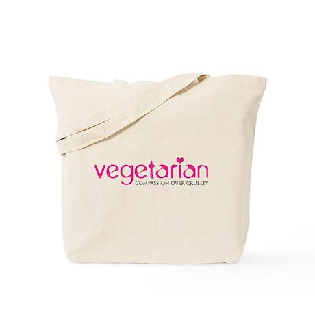Vegetarian - Compassion Over Cruelty Tote Bag