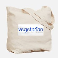 Vegetarian - Compassion Over Cruelty Tote Bag